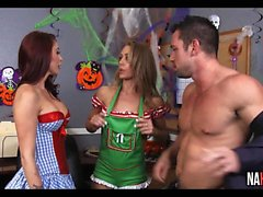Halloween At The Office Nicole Aniston, Monique Alexander