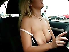 Blonde honey Carol Goldnerova pops out her jugs and proves what the tease she is