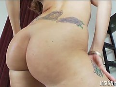 Joslyn James Fucks Herself With Large White Dildo