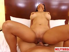 Latin milf pov and cum on face