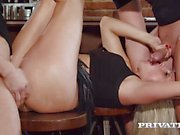 private Horny Milf Rides a Threesome with Stereo Dick
