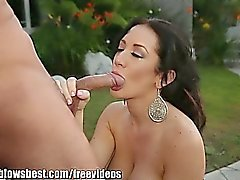 MommyBB Jayden James sucks a cock on her porch