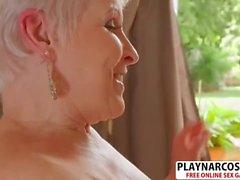 Naughty Mom Jewel Gives Handjob Well Touching Son's Friend