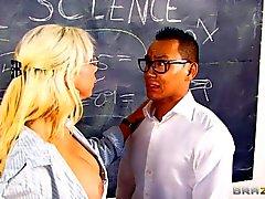 Morgan Ray is s new teacher. She's a gorgeous MILF