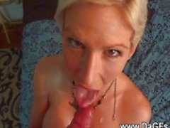 Sperm drinking MILF