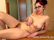 Milf Karolina strips out of her stockings