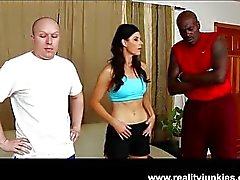 Slut wife India Summer in interracial cuckold