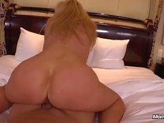 Hot Mature Blonde MILF Fucks Young Cock POV