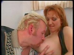 Milf redhead with nice titties rammed in the ass