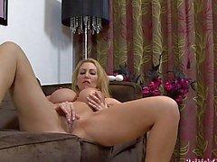 Big Breasted MILF Masturbating Her Pussy to Orgasm