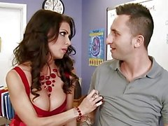 Hot big tits teacher Jessica Jaymes bangs her assistant - Naughty America