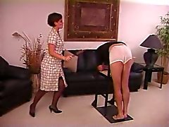 Caned by Strict Lady
