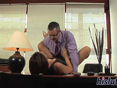 Innocent massage turns into a rough banging