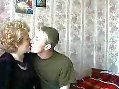 Russian mature lady has a dude under her spell