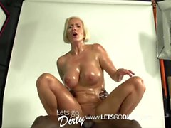 Deutsche MILF vs FAT BLACK COCK