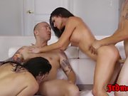 Latina MILF Mercedes Carrera riding cock vigorously in orgy