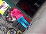 Latina Thick Pregnant Mom In Spandex