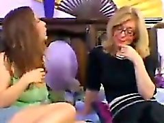MILF In Pantyhose Gets Licked