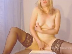 Blonde MIlf Caught Masturbation Loud Orgasm