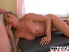 Blonde Tattoed Mom Juelz Ventura Gets Massage
