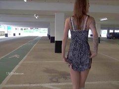 Public milf masturbation of tattooed Paige Fox