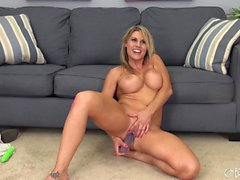Charisma Cappelli plays with sex toys and indulges in strong orgasms