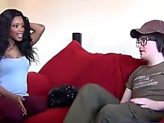 Nerd casts hot black girl