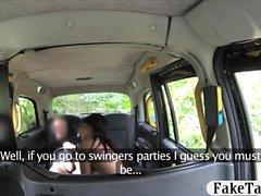 Black girl gets slammed by nasty driver in the backseat
