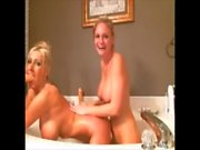 Two Sexy Blonde Nymphos in the Shower Big Tits!