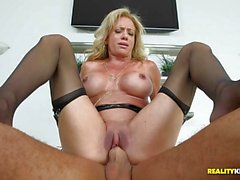 Deep pussy pounding this MILF Raquel Sultra