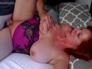Curvy mom with big tits smashed by her younger lover