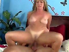 wild blonde mom fucks boy