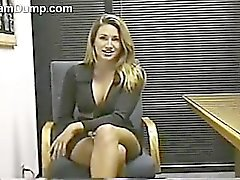 Sexy MILF Strips At The Office