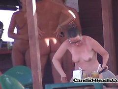 Tight pussy naked nudist fit milf beach voyeur spy