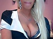 This blonde has mega tits for sure