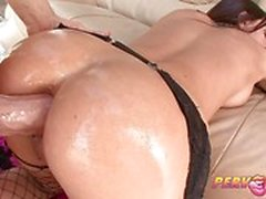 Seductive Brandy Aniston enjoys a hard anal pounding