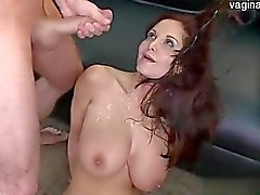 Wet daughter creampie pussy