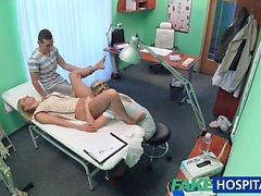 FakeHospital Nurse watches as sexy couple fuck