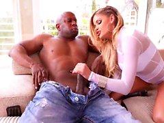 ebony blonde with big tits ride bbc.