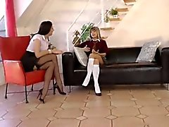 Mature Woman Seduces Skinny Little Girl...F70