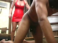 Bizarre mature dominatrix extreme cbt and balls kicking fetish