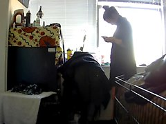 My Nude Stepmother ignorant of spy cam