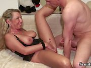 Big Dick Young Boy Seduce German Mother to Fuck her Anal