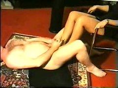 Maitresse Madelines solo foot fetish POV