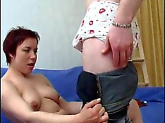 Redheaded Russian mom is fucked in the ass