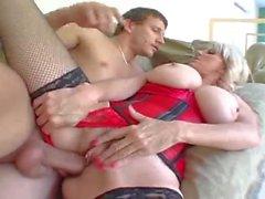 Big woman in a corset banged deep