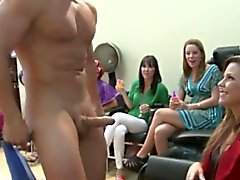 Hair salon skanks sucking cock on camera
