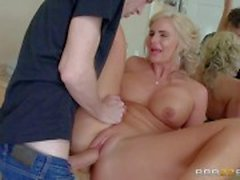 Curvy step mom Phoenix Marie takes cock in every hole