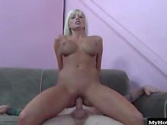 Rikki Six is a blonde babe with huge fake