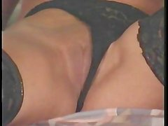 Hot blonde mom tried out new toys